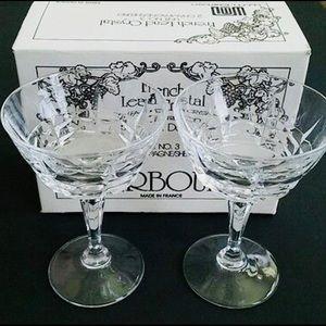 Dalton set of French champagne/sherbet glasses.
